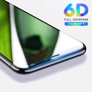 2018 New 6D Full Cover Tempered Glass For iPhone X 6 6S 7 Plus - ShopeeBazar