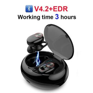 Bluetooth Earphone With V5.0+EDR Stereo Sound Built-in Microphone - ShopeeBazar