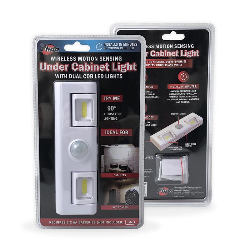 motion sensor under cabinet light with dual cob led lights