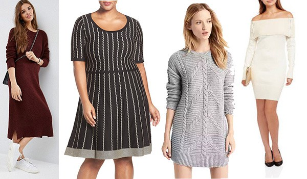 Pair a sweater dress with leggings for a comfortable ensemble