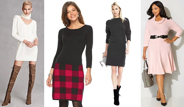 Sweater dresses are a great wardrobe addition throughout the fall and winter