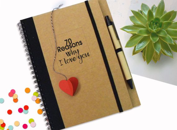 Valentine's Gifts for Her: Love Notebook