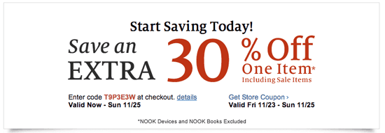 Barnes and Noble Black Friday coupon