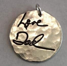 Memorial Jewelry - actually signed by loved ones
