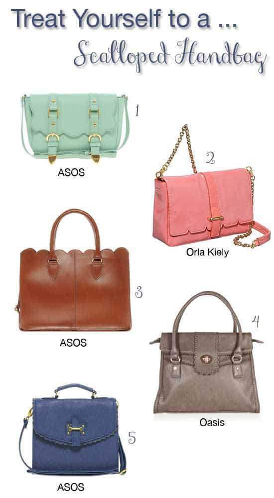 Treat Yourself to a Scalloped Handbag