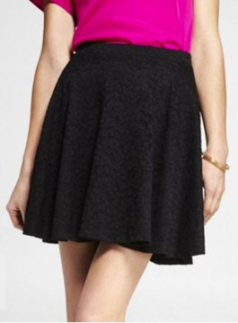 Floral Lace Skater Skirt from Express