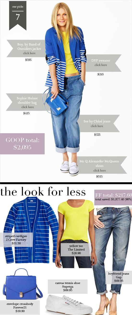 GOOP Look 7 - Get Gwyneth Paltrow's Net-a-Porter looks for less