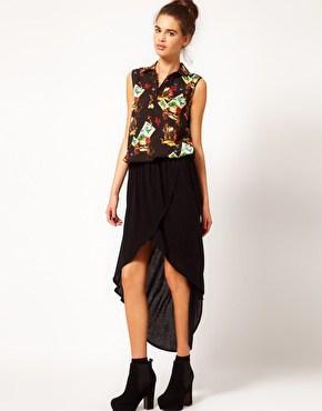 River Island Wrap Maxi Skirt ASOS