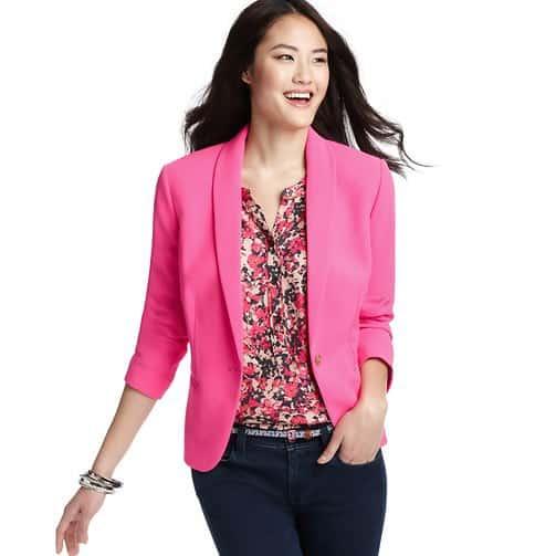LOFT pink crepe blazer