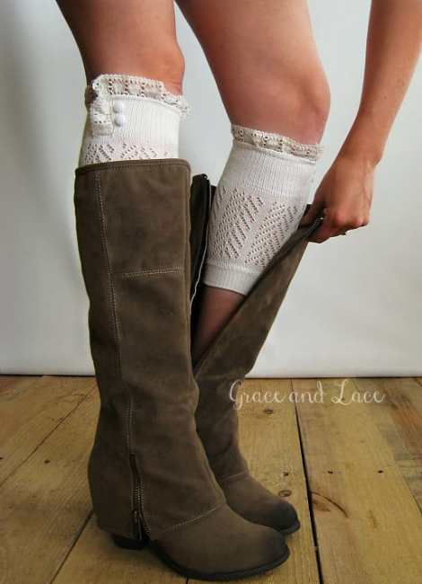 boot cuff grace and lace