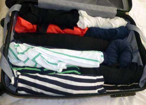 Pack clothing as efficiently as possible
