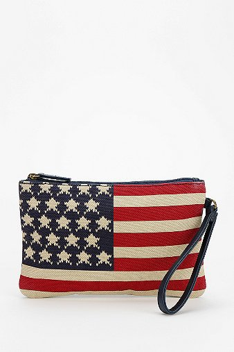 red white and blue wristlet