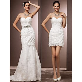 Convertible Wedding Gowns 6 Elegant trumpet mermaid wedding dress