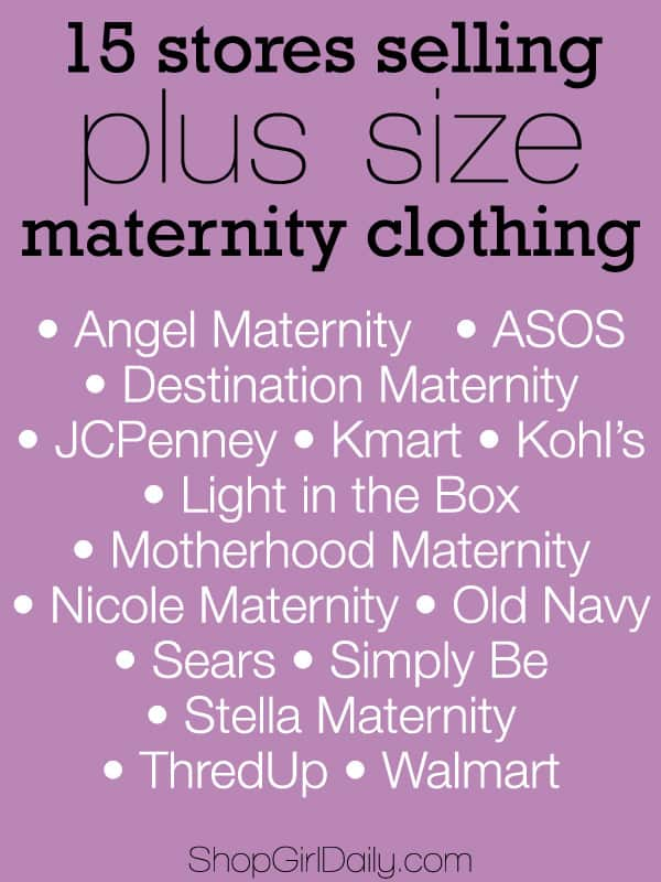 What stores sell maternity clothes