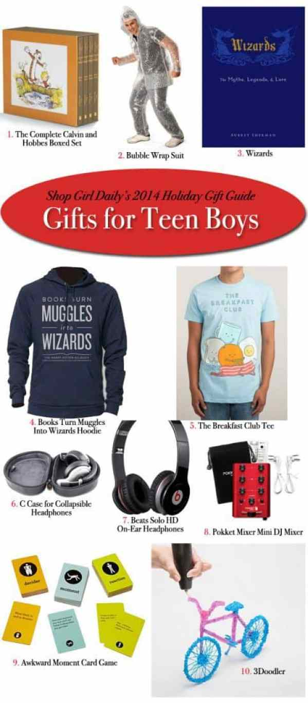 Holiday gift guide gifts for teen boys shop girl daily