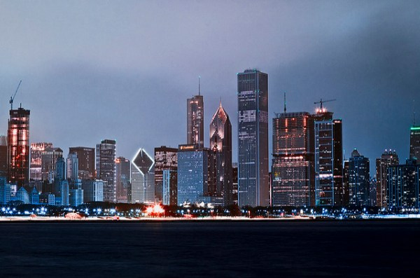 Chicago Skyline via Tony Webster