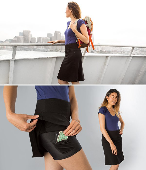 Travel Yoga Skort from Betabrand