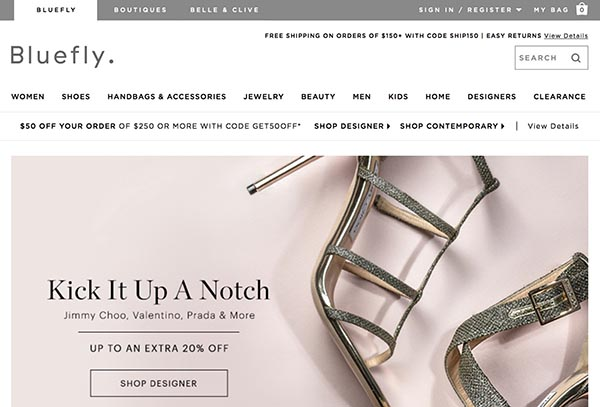 Online Discount Stores: Bluefly