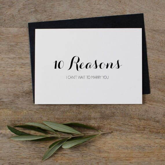 10 Reasons I Can't Wait to Marry You Card