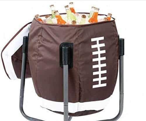 Portable insulated football cooler