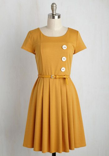 Happy Hosting Dress in Marigold from ModCloth