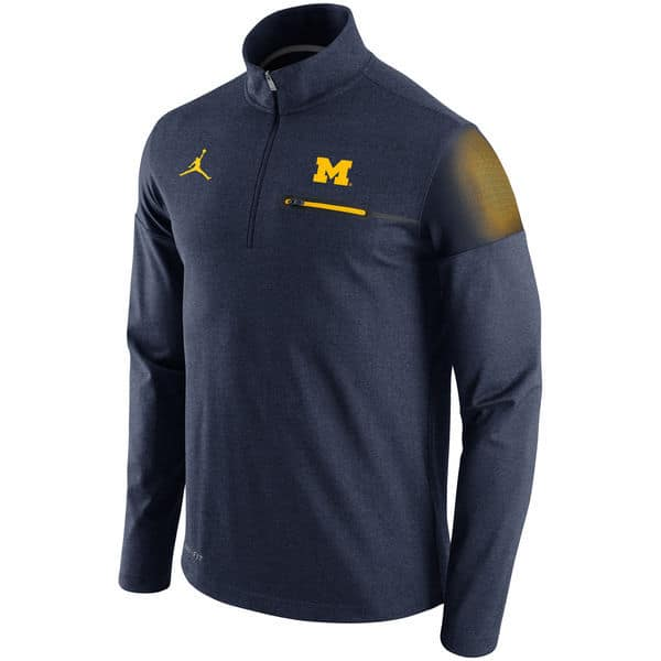 Michigan Wolverines Brand Jordan 2016 Elite Coaches Dri-FIT Half Zip Jacket