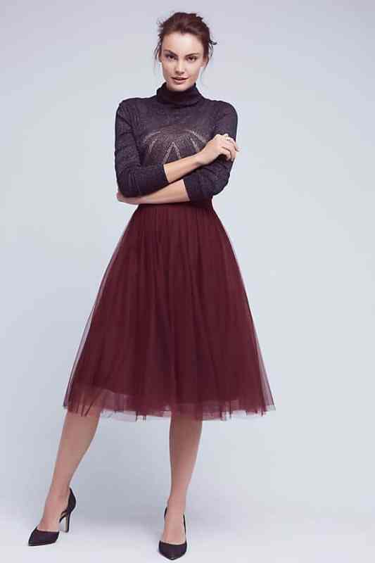 Tulle Midi Skirt from Anthropologie