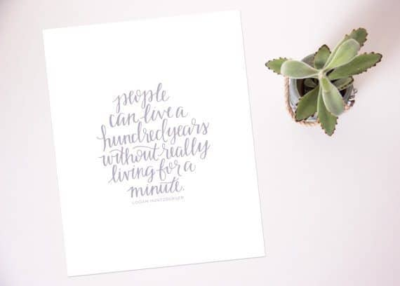 Logan Quote Print