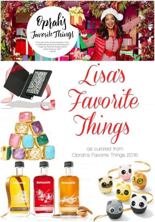 Lisa's Favorite Things: Curated from Oprah's Favorite Things 2016