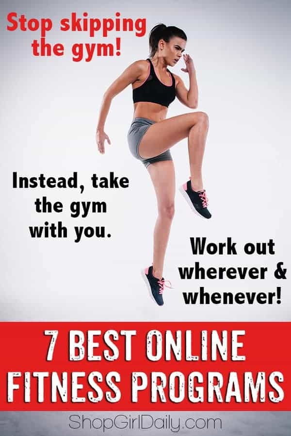 Stop skipping the gym! Instead, workout whenever you want and wherever you want thanks to these online fitness programs.