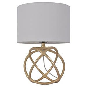 Cast Orb Gold Accent Lamp