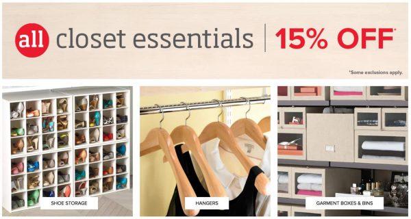 The Container Store Closet Essentials Sale
