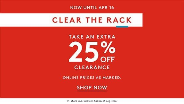 Nordstrom Rack Clear the Rack Sale