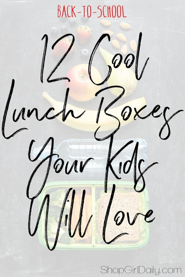 It's almost time to head back-to-school, which means that it's time to look at some cool lunch boxes for your little ones.