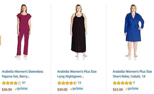 Sleepwear styles from Arabella