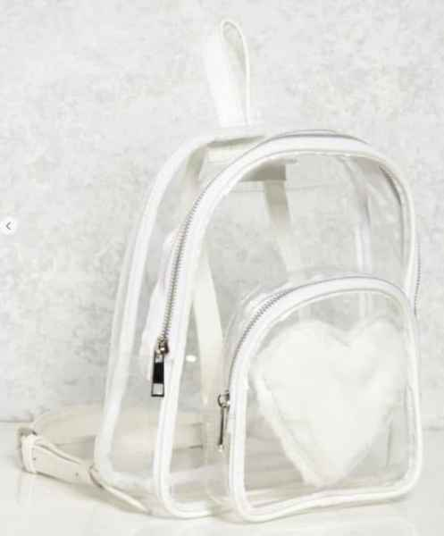 Fuzzy Heart Backpack