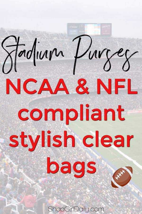 Football season is right around the corner! If you'll be attending any games, stadium purses - aka clear bags - are a must to stash your stuff!