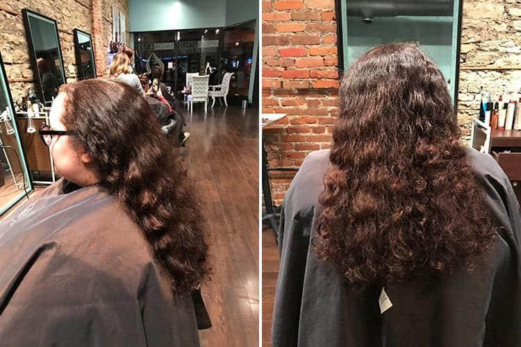 Before hair chop