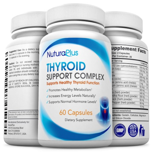 Buy Premium Thyroid Support Supplement - Natural Formula ...