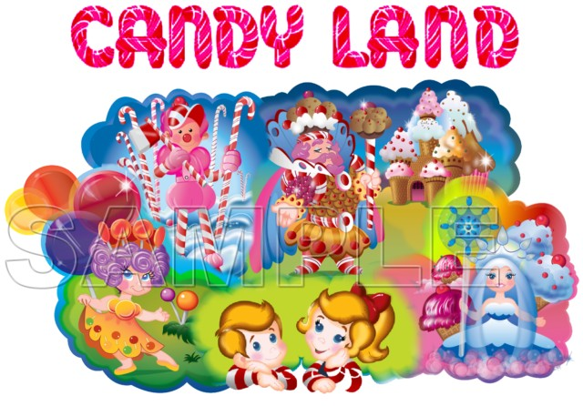 Candy Land T Shirt Iron On Transfer Decal 1