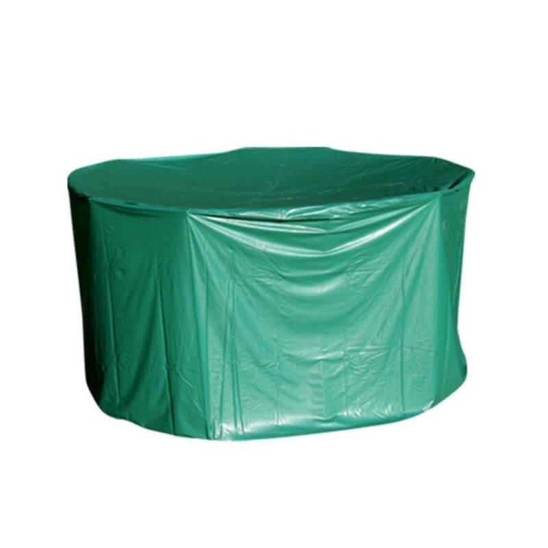 housse de protection pvc table ronde de jardin exterieur