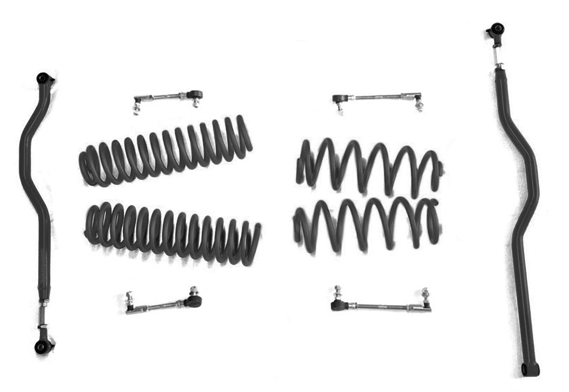 2 5 Inch Basic Lift Kit Jeep Jk Wranglers Black J