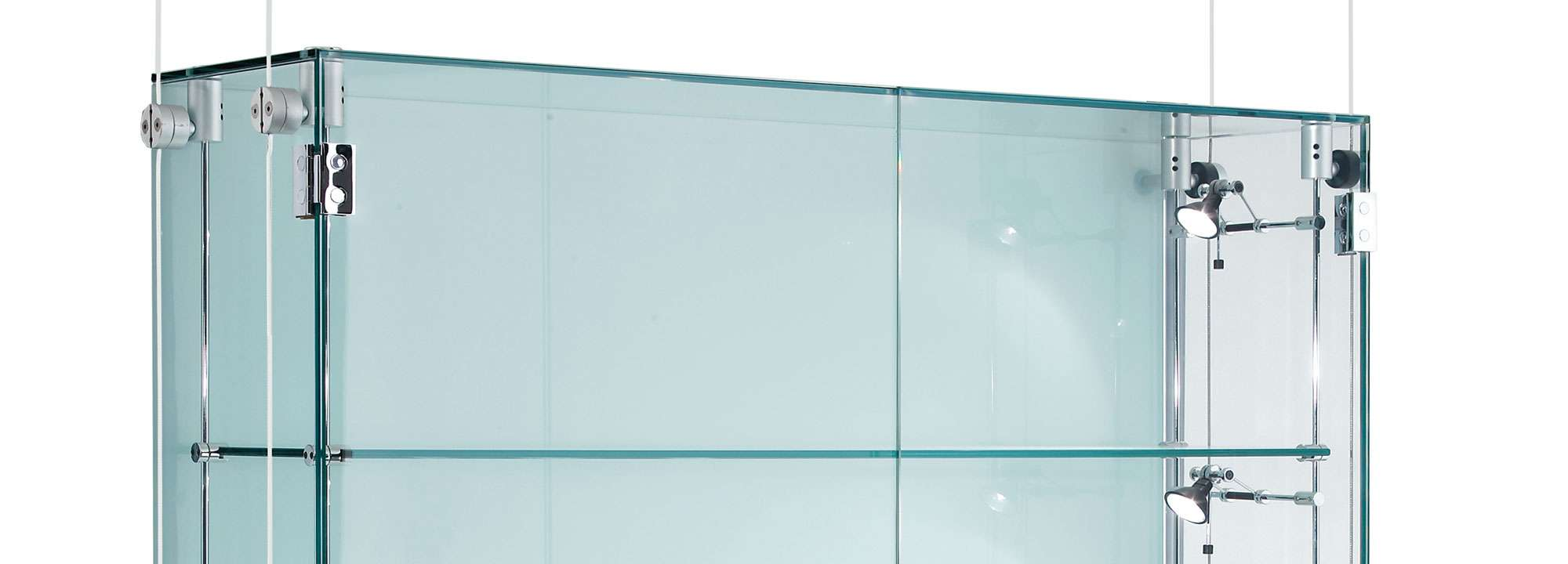 Suspended Glass Display Cabinets Custom Made Shopkit Group Uk