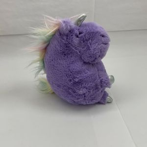 "Animal Adventure Lavendar Unicorn Pastel Mane Silver 10"" Plush Stuffed Animal"