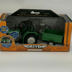 DRIVEN by Battat Micro Tractor Green Toy Tractor with Lights And Sound Ages 4+