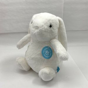 "Manhattan Toy Company Bumpers White Bunny Plush 11"" Stuffed Animal Easter"