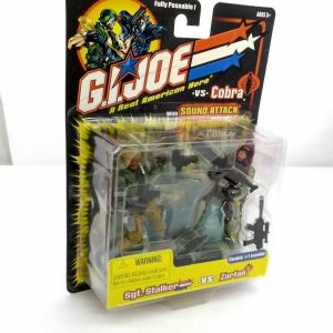 GI Joe Cobra Sgt. Stalker vs Zartan Slice Action Figure Pack Set