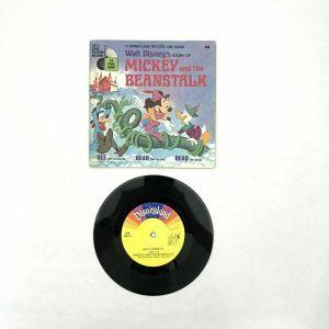1970 Walt Disney's Disneyland Book And Record Mickey and the Beanstalk Vintage