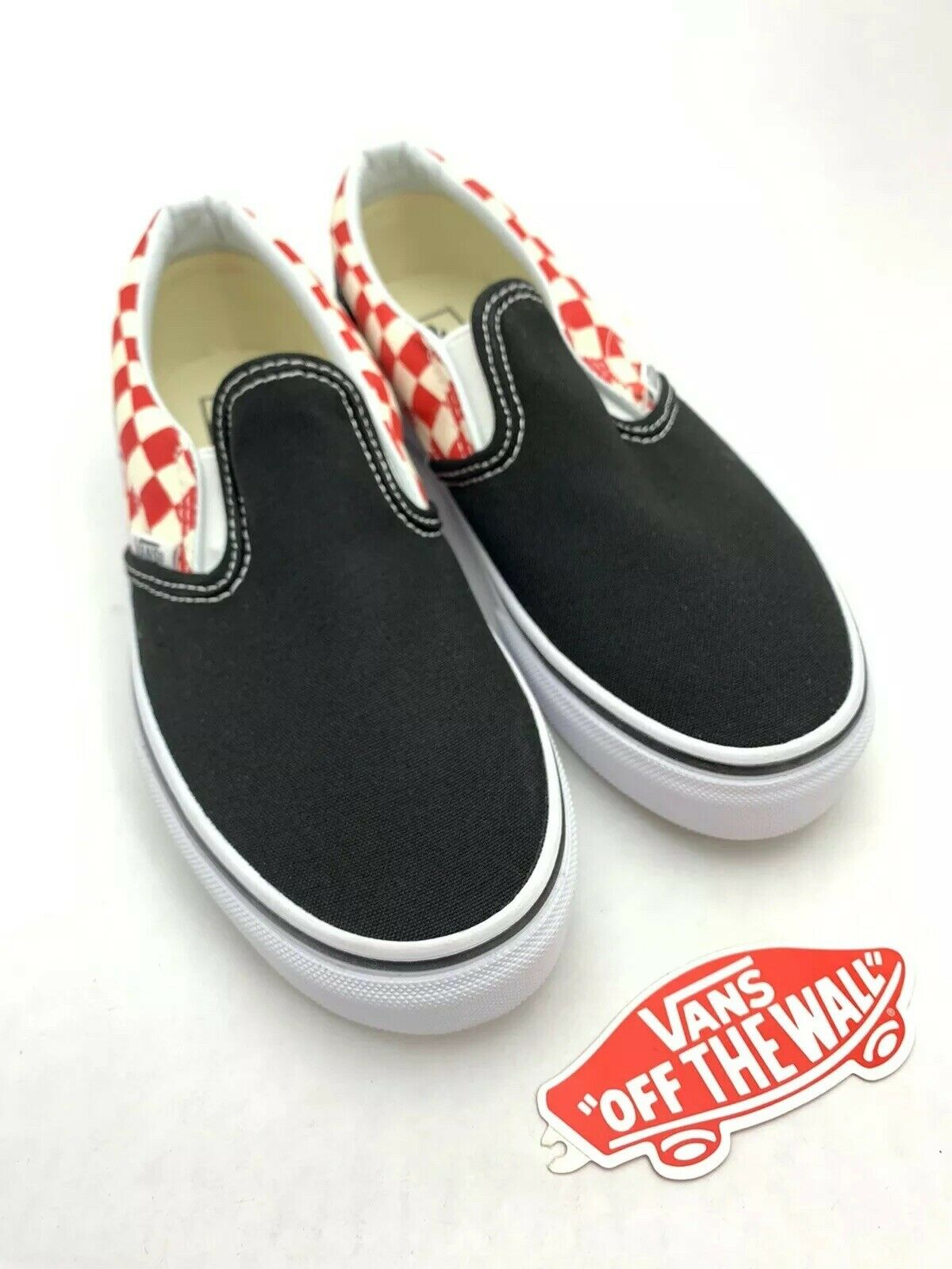 kids red and white checkered vans