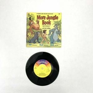"1969 Walt Disney ""The Jungle Book"" MORE 7"" 33-1/3 Record &Story Book Disneyland"
